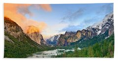 Colors Of Yosemite Beach Sheet by Jamie Pham