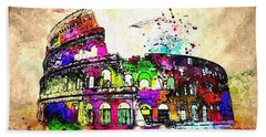 Colosseo Grunge  Beach Towel by Daniel Janda