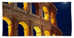 Colosseum And Moon Beach Towel