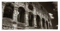 Colosseum Wall Beach Towel