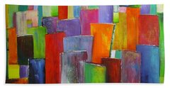 Colour Block 3 Painting Beach Sheet