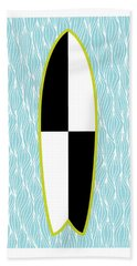 Colour Block Surfboard Beach Towel
