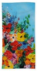 Colour Of Spring Beach Towel by Teresa Wegrzyn