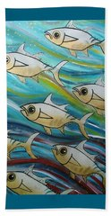 Coloured Water Fish Beach Towel