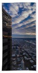 Columbia Center Skies Reflected Beach Towel