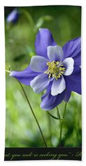 Columbine Card  Beach Towel