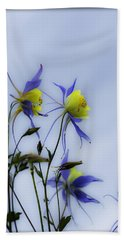 Beach Sheet featuring the photograph Columbines by Peter v Quenter