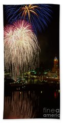 Columbus Red White And Boom Beach Towel