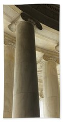 Columns Stand Guard Beach Towel