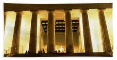 Columns Surrounding A Memorial, Lincoln Beach Towel