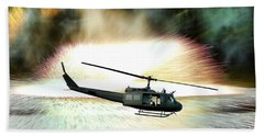 Combat Helicopter Beach Towel