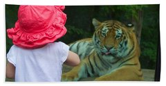 Beach Towel featuring the photograph Come A Little Closer by Dave Files