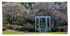 Come Into The Garden Beach Towel by Cynthia Guinn