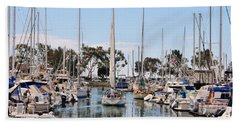 Beach Towel featuring the photograph Come Sail Away by Tammy Espino
