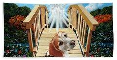 Come Walk With Me Over The Rainbow Bridge Beach Sheet