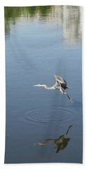 Beach Towel featuring the photograph Coming In For A Landing by Ellen Barron O'Reilly
