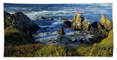 Beach Towel featuring the photograph Coming Together by Belinda Greb