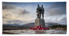 Commando Memorial At Spean Bridge Beach Sheet by Gary Eason