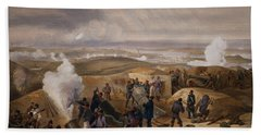 Commissariat Difficulties, Plate Beach Towel