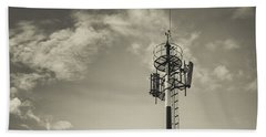 Communication Tower Beach Towel
