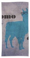 Como Te Llamas Humor Pun Poster Art Beach Towel by Design Turnpike
