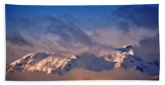 Comox Glacier And Morning Mist Beach Towel