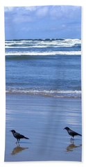 Companion Crows Beach Towel by Will Borden
