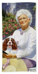 Companions In The Garden Beach Sheet by Candace Lovely