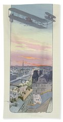 Comte Charles De Lambert Flying Beach Towel