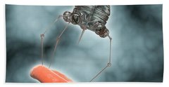 Conceptual Image Of A Nanobot Injecting Beach Towel