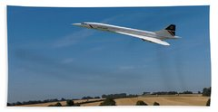 Concorde At Harvest Time Beach Towel by Paul Gulliver