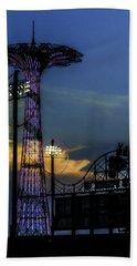 Coney Island Parachute Jump Beach Towel