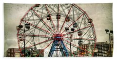 Coney Island Wonder Wheel  Beach Sheet by Debra Forand