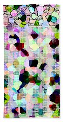 Beach Towel featuring the photograph Confetti Table by Ecinja Art Works