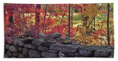 Connecticut Stone Walls Beach Towel