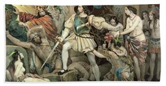 Conquest Of Mexico Hernando Cortes Beach Towel