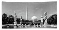 Constitution Mall 1939 Worlds Fair Pond Beach Towel