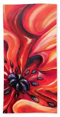 Beach Towel featuring the painting Consuming Fire by Meaghan Troup