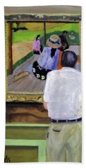Contemplating Gauguin Beach Towel