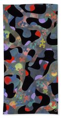 contemporary abstract art - Inside Outside Beach Sheet