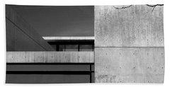 Contemporary Concrete Block Architecture Tree Beach Towel