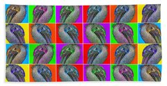 Contemporary Pelicans II Beach Towel by Betsy Knapp