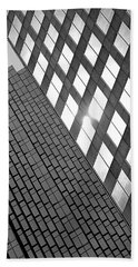 Contrasting Architecture Beach Towel