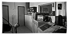 Control Room In Alcatraz Prison Beach Towel