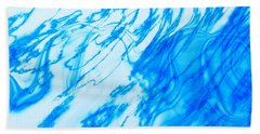 Cool Blue Beach Sheet by Kellice Swaggerty