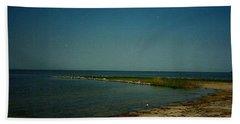 Cool Day For A Swim Beach Sheet by Amazing Photographs AKA Christian Wilson