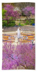 Coolidge Park Fountain In Spring Beach Towel