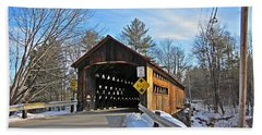 Coombs Covered Bridge Beach Towel by MTBobbins Photography