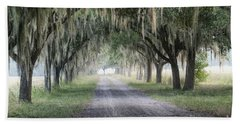 Coosaw Fog Avenue Of Oaks Beach Towel