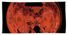 Copper Disk Abstract Beach Towel